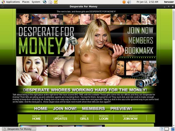Desperateformoney.com Free Trial Option