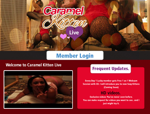 Caramel Kitten Live Register Form