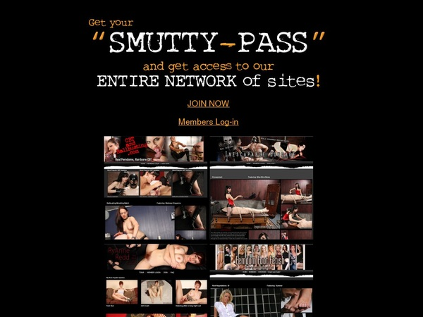 Smutty Pass Login Details