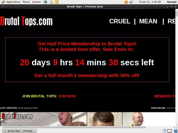 Sign Up Brutal Tops
